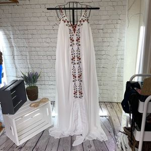 LC  Embroidered Goddess Maxi Dress XL NWT